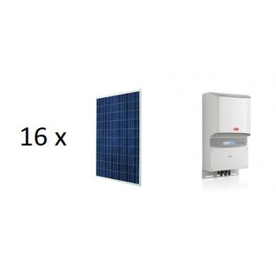 4.3 kW napelemes rendszer ABB Inverter