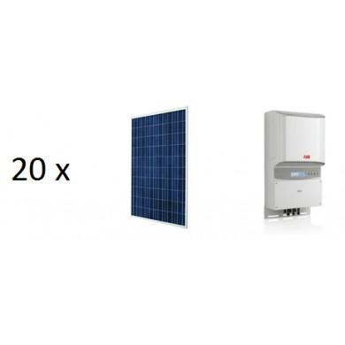 5.4 kW napelemes rendszer ABB Inverter